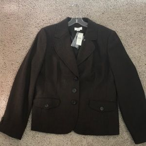 Ann Taylor Loft Brown Jacket Size 14 NWT